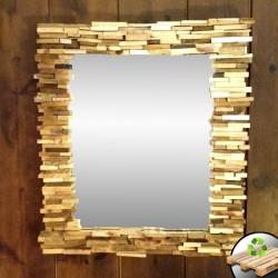 Espejo Cuadrado de Madera...