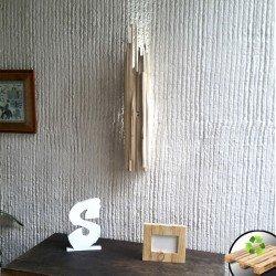 """Farol de madera Blanco """"Lanzas"""""""
