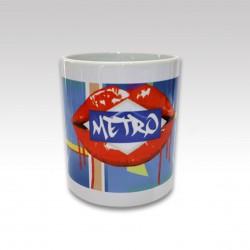 """Taza con asa """"Metro"""""""