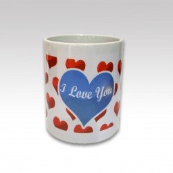 Taza con Asa I Love You Azul