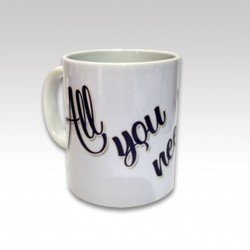 "Taza con asa -All you need´s ""Yo""-"