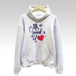 "Sudadera ""All u Need´s Yo"" con Capucha"