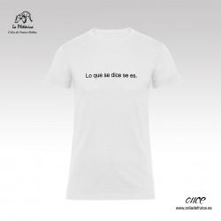 """Camiseta """"Lo que se dice se..."""