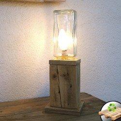 """Lámpara de Madera Natural """"Faro"""""""