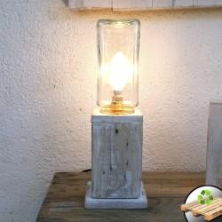 "Lámpara Blanca de Madera ""Faro"""